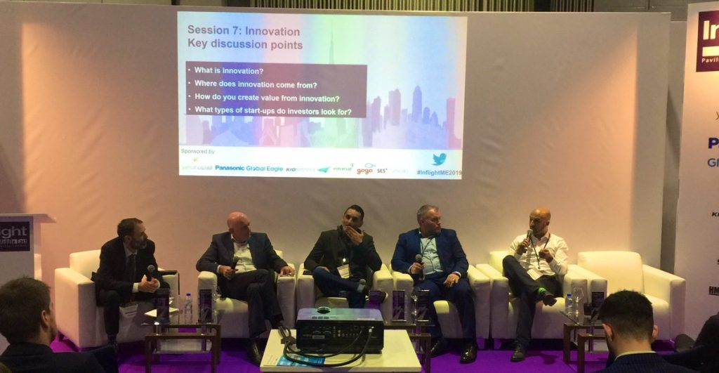 Photo of Innovation panel at Inflight Middle East 2019