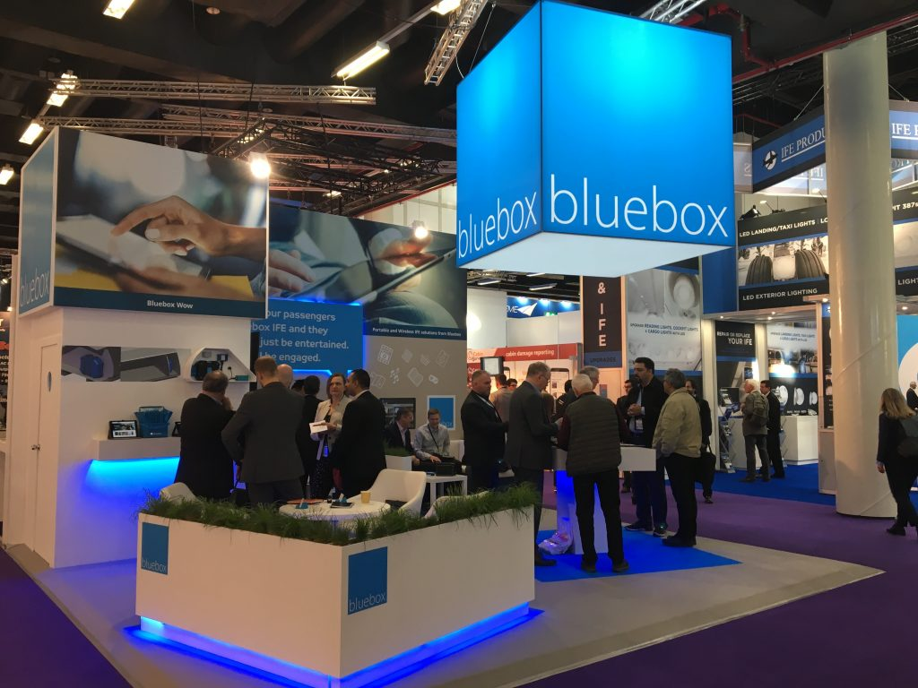 Photo: Bluebox stand at AIX19