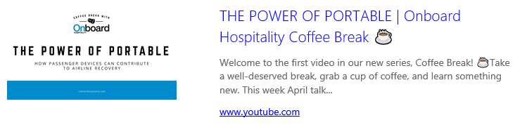 Image linking to video interview on Onboard Hospitality YouTube channel