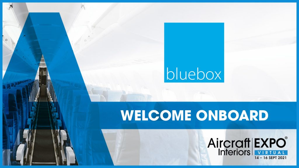 Blue graphic with Bluebox logo and dates for AIX Virtual 14-16 September 2021