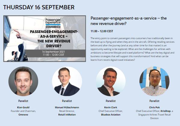 Image describing Passenger Engagement panel session and showing panel participants